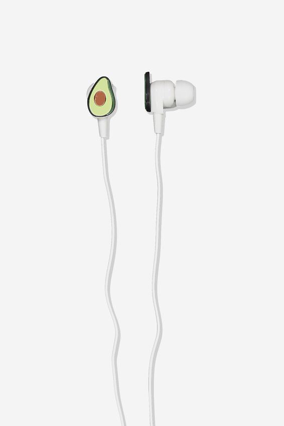 Novelty Earphones, AVOCADO