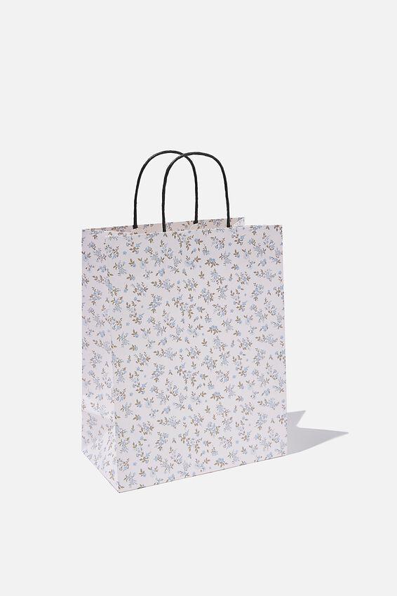 Get Stuffed Gift Bag - Medium, COTTAGE FLORAL BLUE