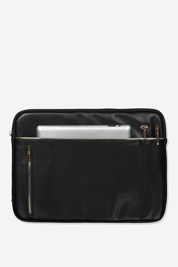 Take Charge 15 Inch Laptop Cover, BLACK AND GOLD