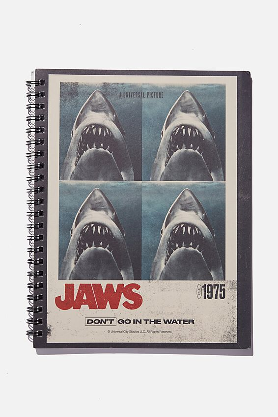 College Ruled Campus Notebook, LCN UNI JAWS POSTER