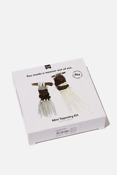 Mini Tapestry Kit, BLACK GREY WHITE