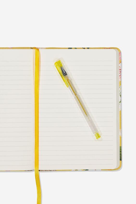 "A5 Buffalo Journal (5.8"" x 8.2""), YELLOW FLORAL"