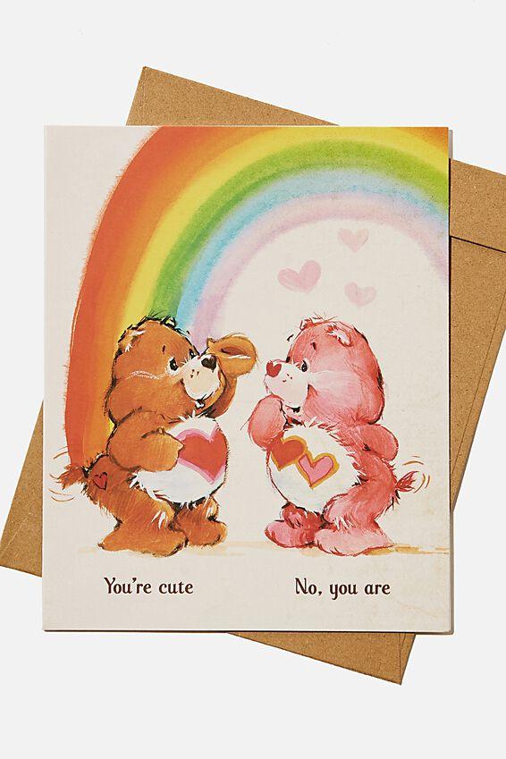 Care Bears Love Card, LCN CLC CARE BEARS YOURE CUTE