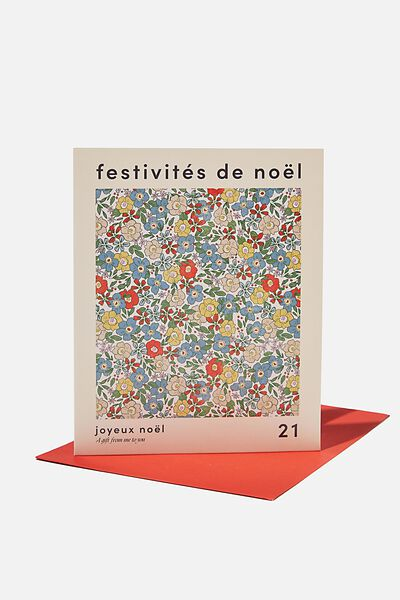 Christmas Card 2021, FESTIVITIES POSTER DITSY FLORAL