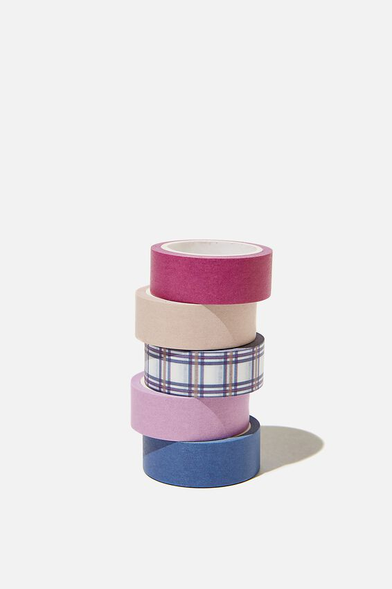 Washi Tape 5Pk, POP CHECK