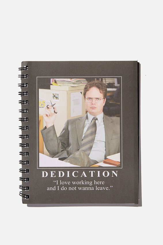 A5 The Office Campus Notebook Recycled, LCN UNI DWIGHT DEDICATION