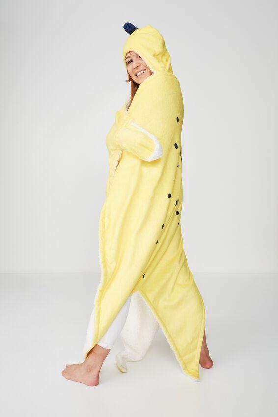 Novelty Hooded Blanket, BANANA SPLIT