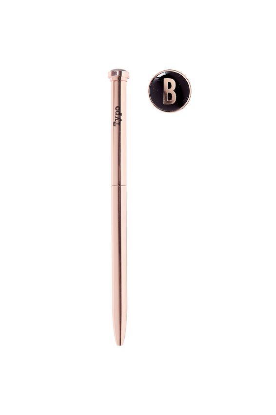 Initial Ballpoint Pen, ROSE GOLD B