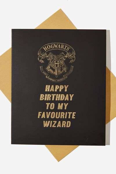Funny Birthday Card LCN WB FAV WIZARD HP