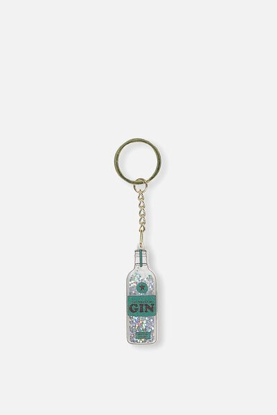 Fashion Keyring, GLITTER GIN!