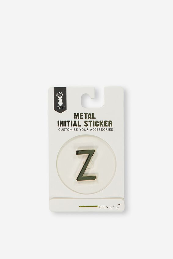 Metal Stickers, GOLD Z