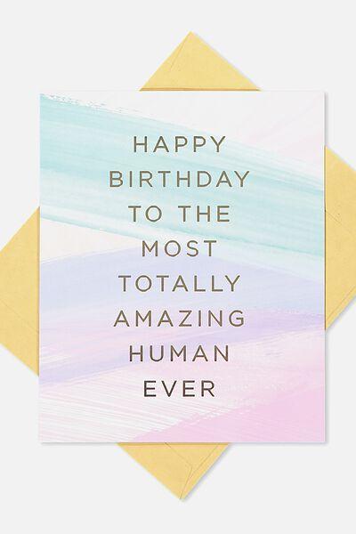 Nice Birthday Card AMAZING HUMAN EVER STROKES