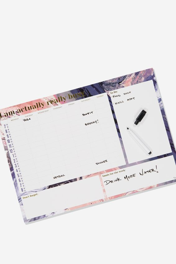 A3 Magnetic Planner, MOODY MARBLE BUSY