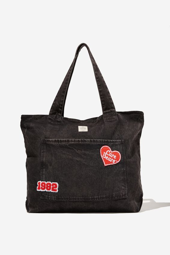 Care Bears Exclusive Daily Tote, LCN CLC CAREBEARS BLACK