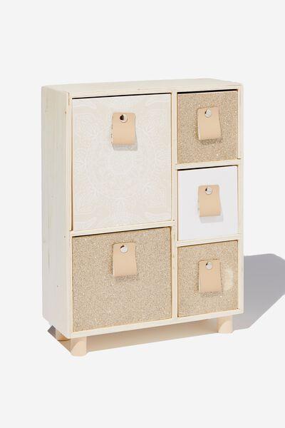 5 Drawer & Store, GLITTER MANDALA LACE