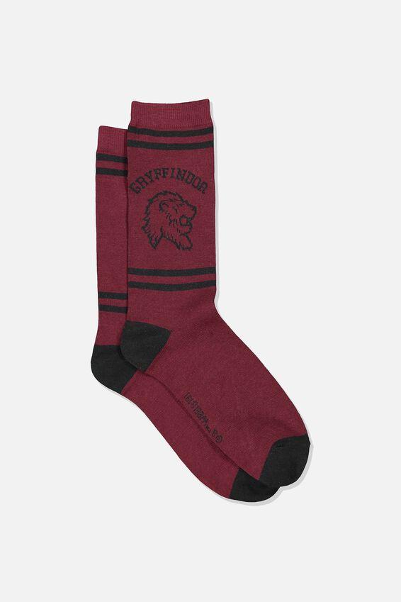 Mens Novelty Socks, LCN WB GRYFFINDOR HOUSE