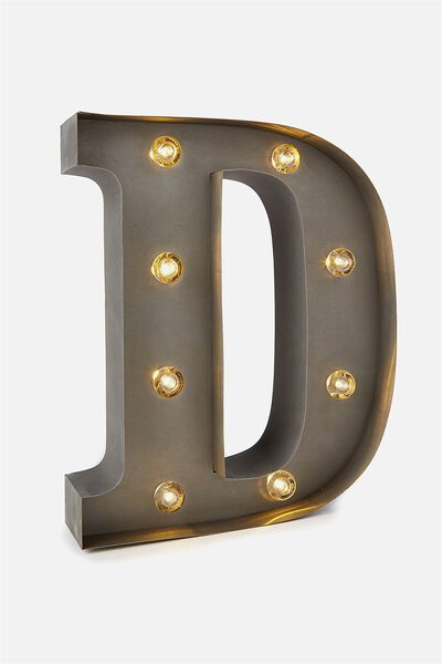 Small Letter Marquee Light, SILVER D