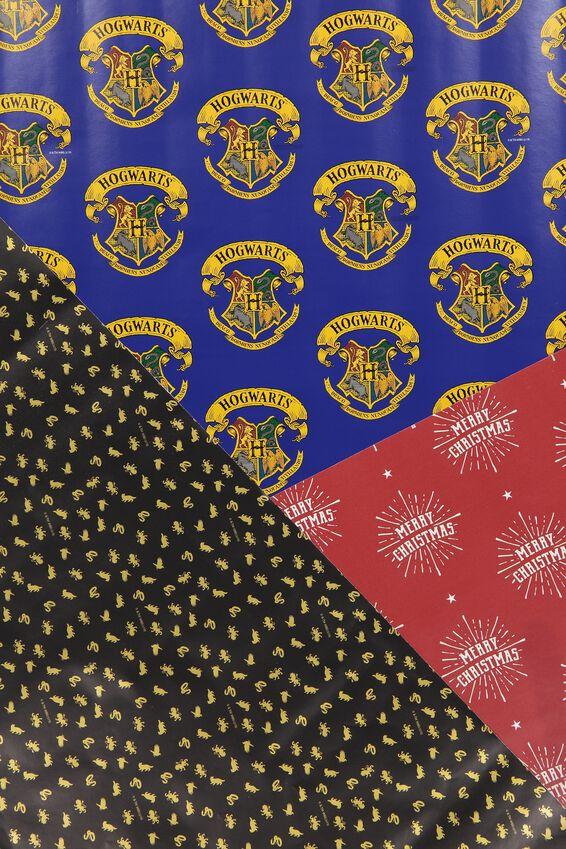 2019 Christmas Roll Wrap 3Pk, LCN WB HP