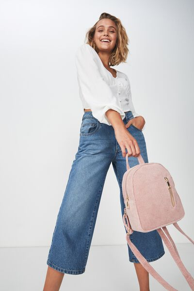 Mini Arch Backpack, DUSTY PINK CORDUROY