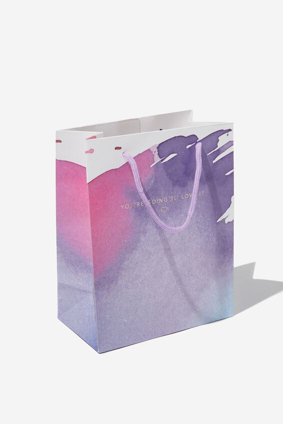 Stuff It Gift Bag - Small, LOVE IT PURPLE STROKES