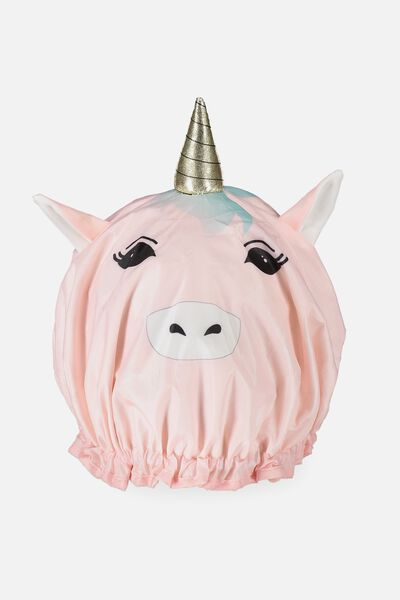 Shower Cap, PINK UNICORN