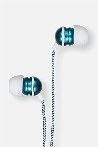 Luxe Earphones, TEAL