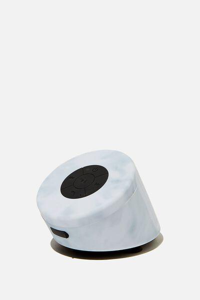 Wireless Shower Speaker, PREMIUM A.T. SPACEY TIE DYE HYACINTH