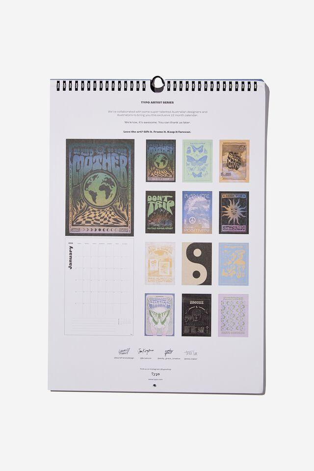 2022 Art Series Calendar, EMBRACE CHANGE BUTTERFLY