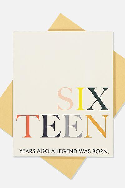 Age Card, SIXTEEN LEGEND
