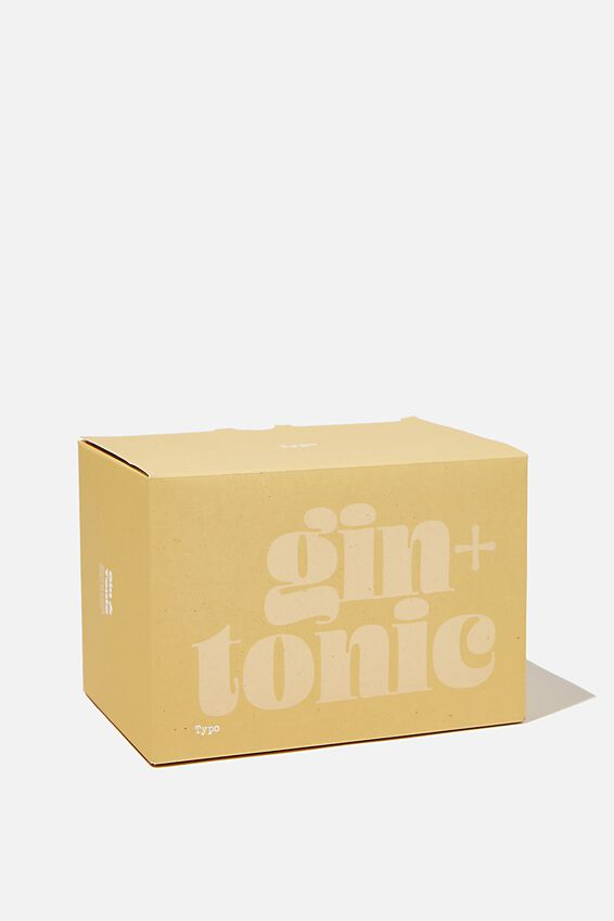 Large Block Candle, MUSTARD GIN & TONIC!