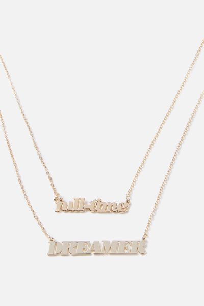 Novelty Necklace, FULLTIME DREAMER