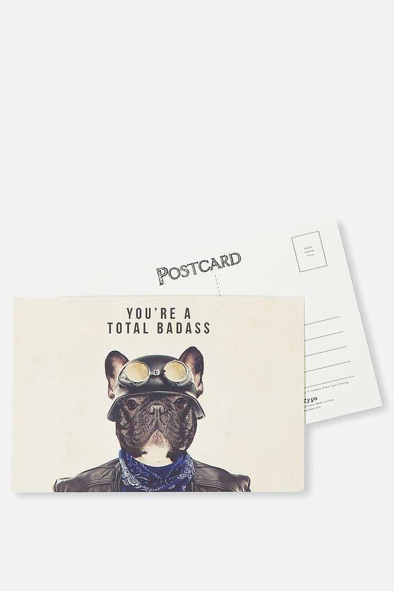 Postcard, YOU'RE A BADASS