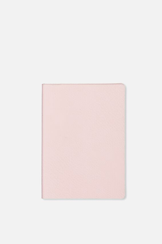 A6 Soft Cover Buffalo Journal - 176 Pages, BLUSH PINK