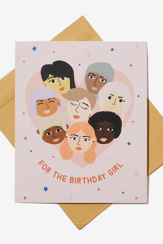 Nice Birthday Card, BIRTHDAY GIRLS