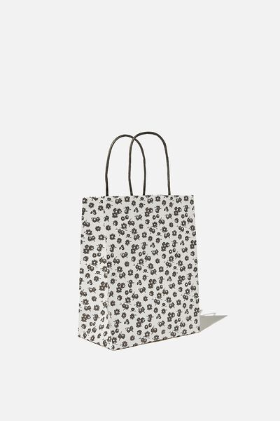 Get Stuffed Gift Bag - Small, B&W DOLLY DAISY