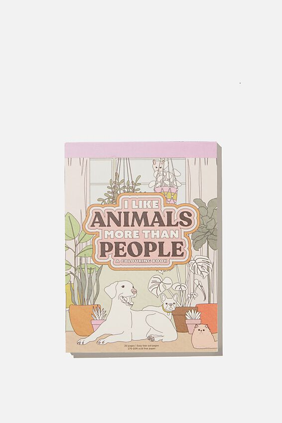 Artists Assistant Post Card, ANIMALS MORE THAN PEOPLE