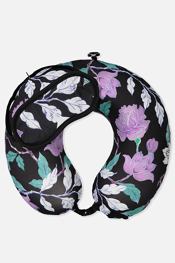 Foam Travel Pillow Set, LUSH FLORAL