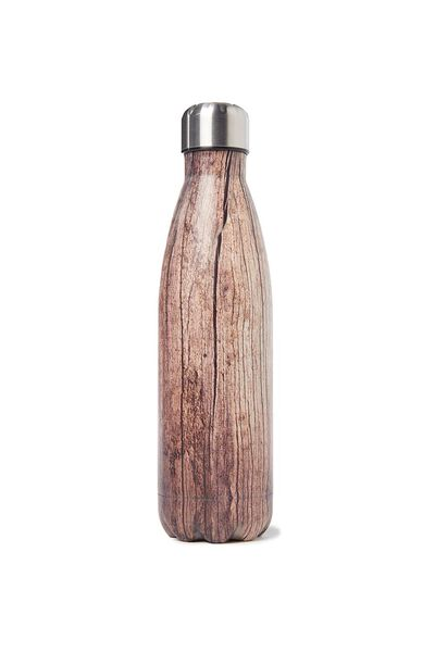 Metal Drink Bottle, WOODGRAIN
