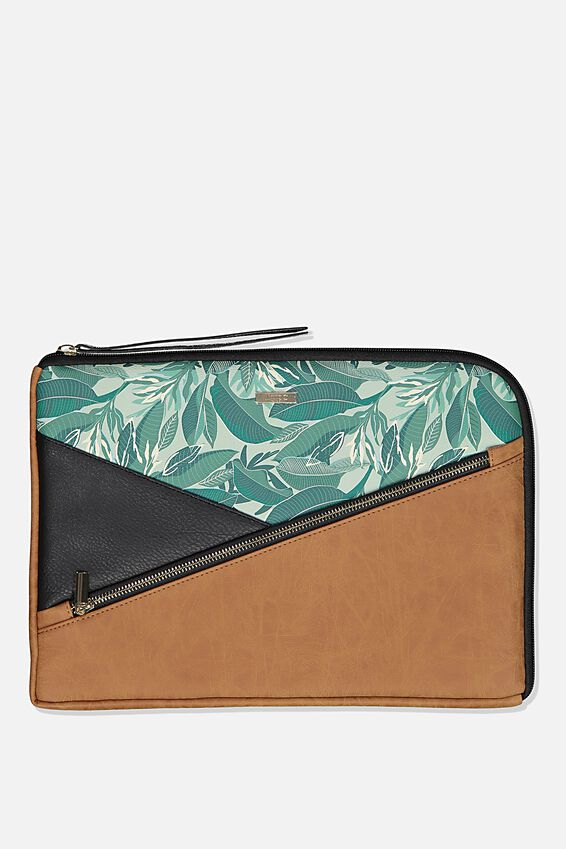 Premium Laptop Case 13 inch, BONDI FOLIAGE SPLICE