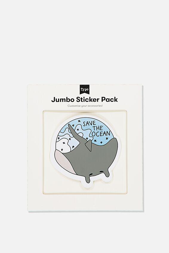 Jumbo Sticker, SAVE THE OCEAN