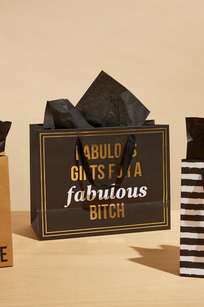 Medium Gift Bag with Tissue Paper, FABULOUS BITCH!