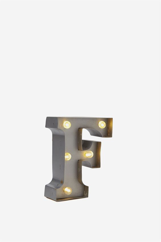 Mini Marquee Letter Lights 10cm, SILVER F
