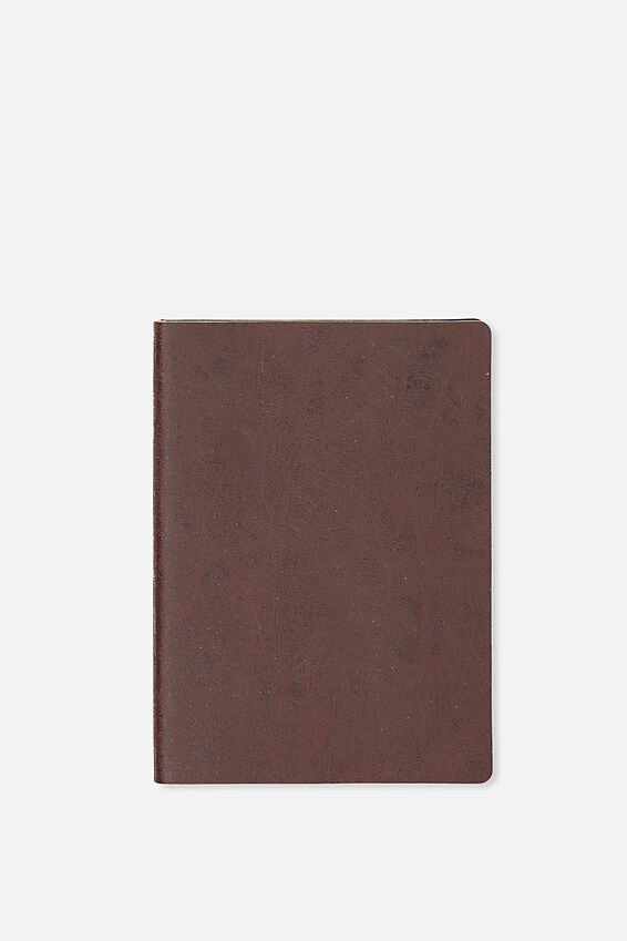 A6 Soft Cover Buffalo Journal - 176 Pages, RICH TAN