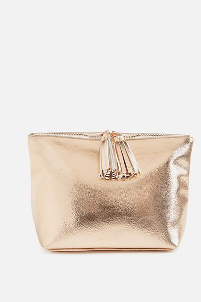 Florence Cosmetic Bag, ROSE GOLD