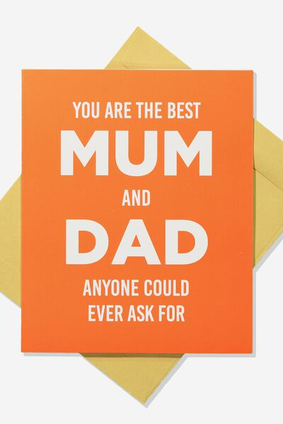 Mothers Day Card 2019, BEST MUM AND DAD