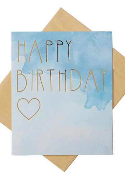 Nice Birthday Card, OMBRE HAPPY BIRTHDAY