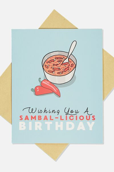Funny Birthday Card, SAMBAL-LICIOUS