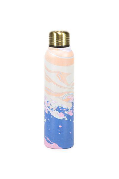 Small Metal Drink Bottle, RAINBOW MARBLE