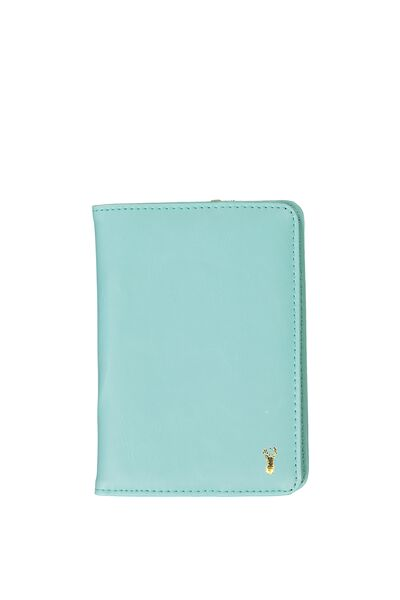 Buffalo Classic Passport Holder, BLUE