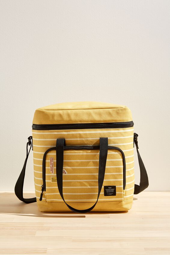 Day For It Cooler Bag, WASHED MUSTARD 70S STRIPE